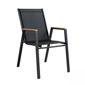 черен Стол 5108.01,алуминий,текстилен.