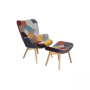 цветно кресло ,дървено,дамаска ,Maron