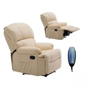 бежово електрическо масажно кресло Space Massage