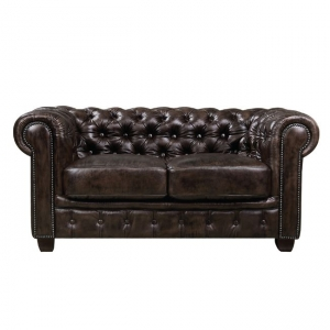 кафяв диван естествена кожа chesterfield brown 2
