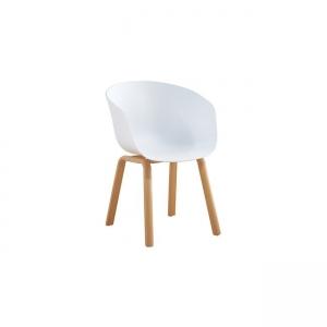 бял стол с алуминиеви крака и пвц седалка