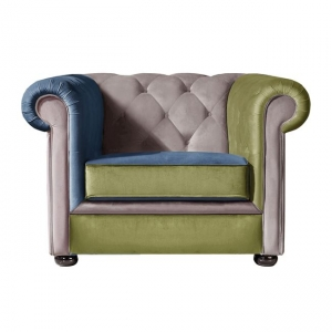 Единично цветно кресло ,дърво,велур modena 1
