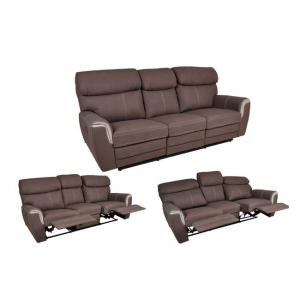 кафяв диван с релакс механизъм Luna relax
