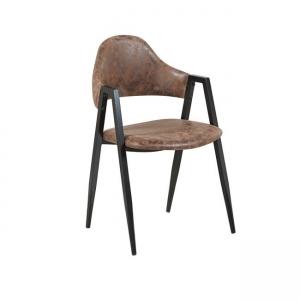 кафяв стол с метална конструкция delta 3