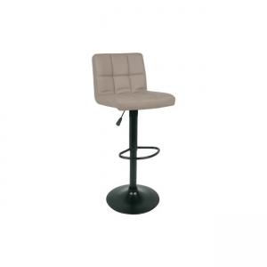 бежов бар стол Лино с черна контрукция