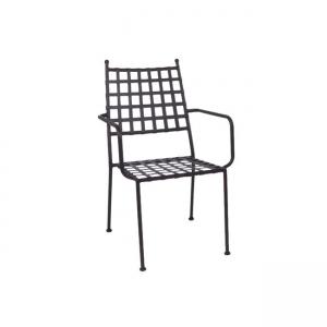черен метален градински стол paton1