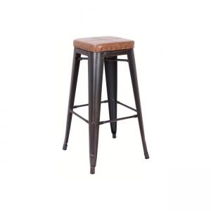 черен градински бар стол 4109P,104