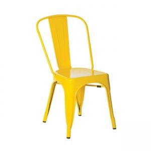 жълт метален градински стол 5191,9