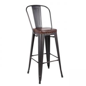 черен бар стол метален 5209P,10