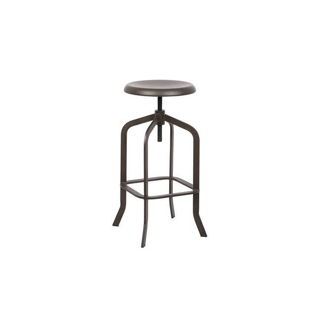 кафяв,градински,метален бар стол E 5137,2