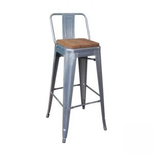 сив метален бар стол E 5208,6
