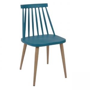 син градински стол с метални крака EM 139,5