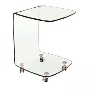 стъклена помощна холова масичка Glasser EM 726