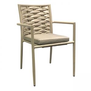 бежов стол от изкуствен ратан Vital chair