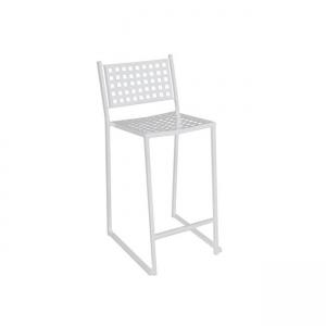 бял метален градински бар стол caprice bar white