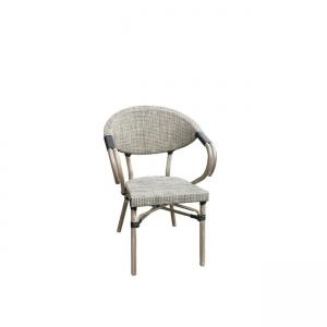 градински алуминиев сив стол costa