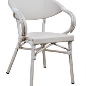 бял градински алуминиев стол hm5108
