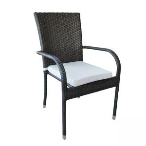кафяв стол с изкуствен ратан lucia brown