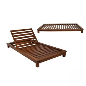 плажен дървен шезлонг verano2