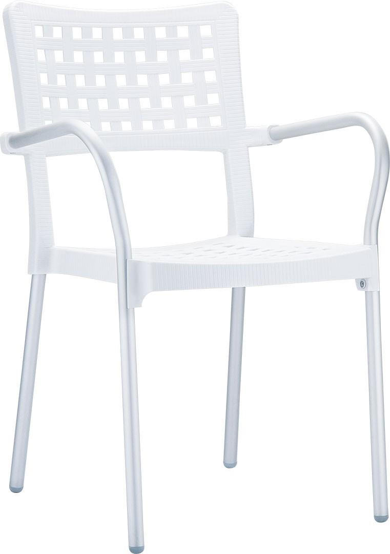 алуминий,полипропилен,бял стол модел Гала.