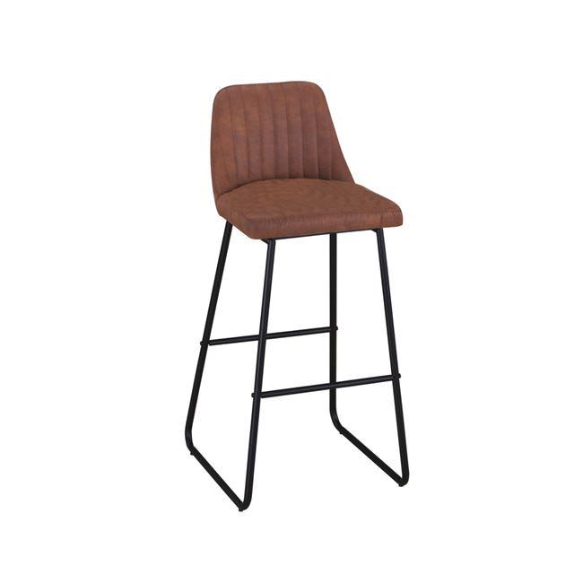 метален кафяв Бар стол Мат
