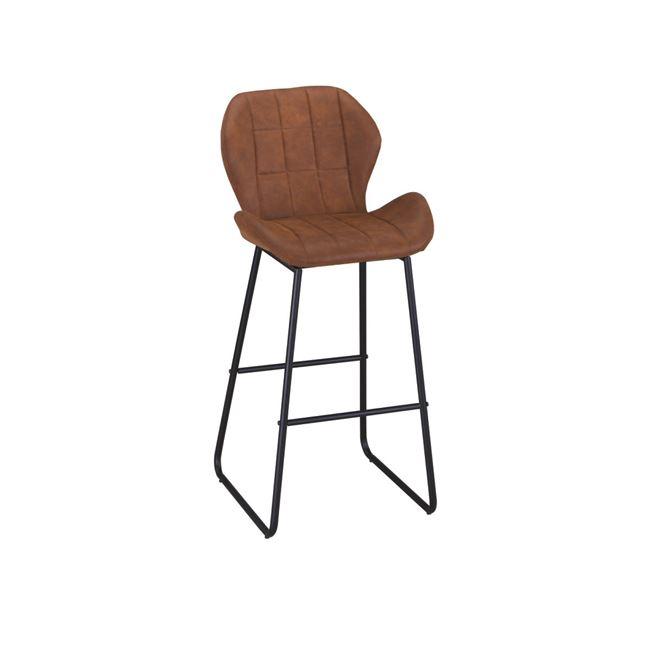 кафяв метален Бар стол Норма