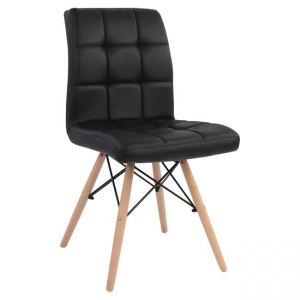 Стол Роса,черен,дърво,метал