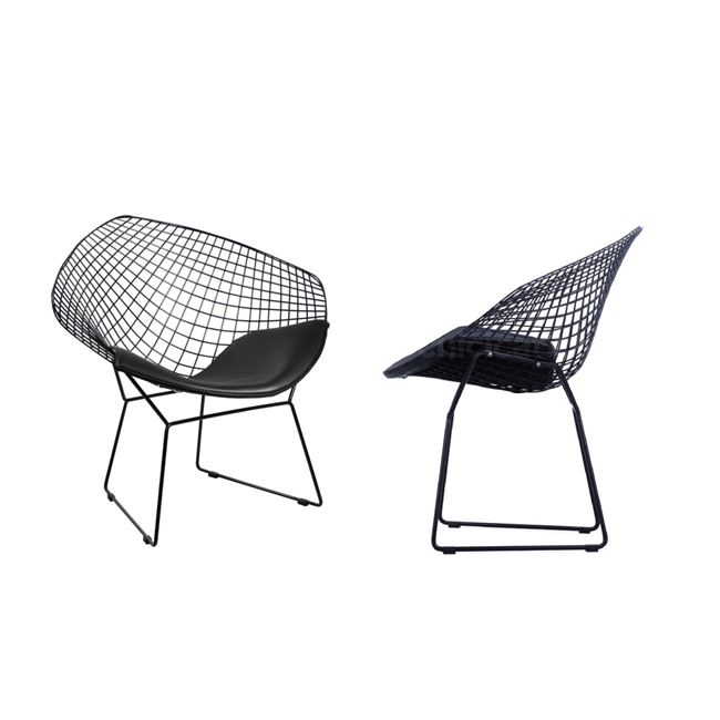 черно кресло метално E 5149,1