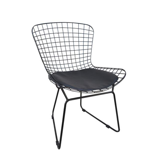 черен метален стол Саксън E5142