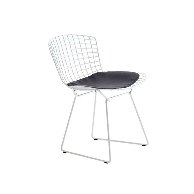 бял метален стол Саксън E5142,3