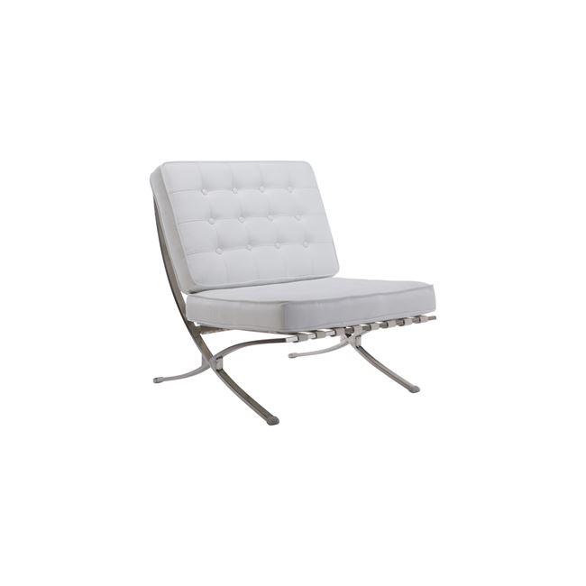 бял стол с хромирана конструкция E698,11