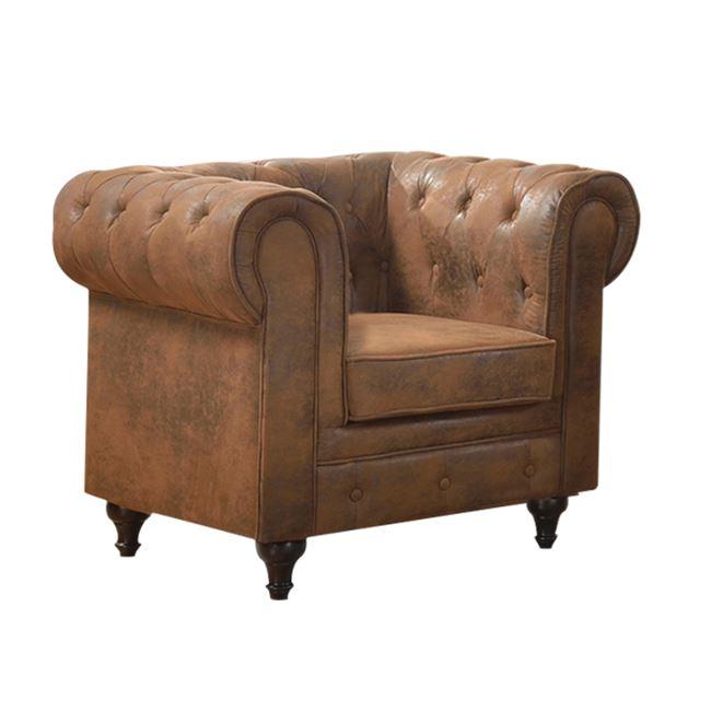 Кафяво кресло,дървено с дамакса Е 942,1