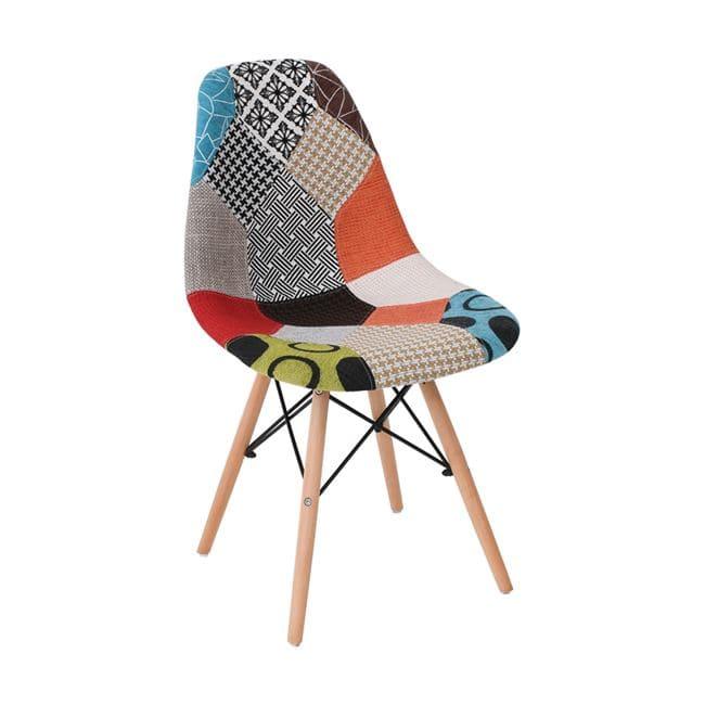 Трапезен стол ,шарен,дамаска,пачуорк ЕМ 123.8