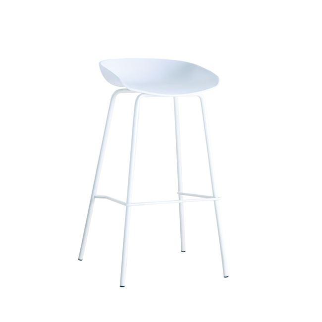 бял стол метал,полипропилен PENTOS