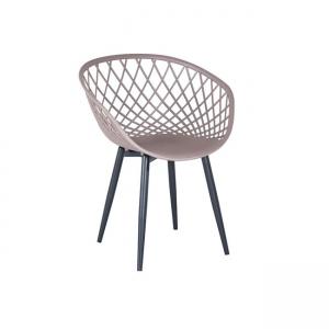 метален стол ,пвц,капучино REX E373,3