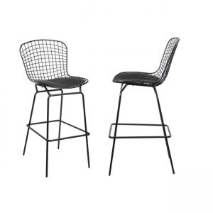 черен метален бар стол Saxon E 5136