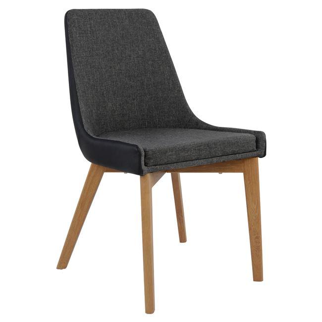 Трапезарен стол АLKMINI,кожа,дамаска,метал