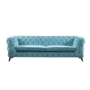 син диван с велурена дамаска barwol blue 3