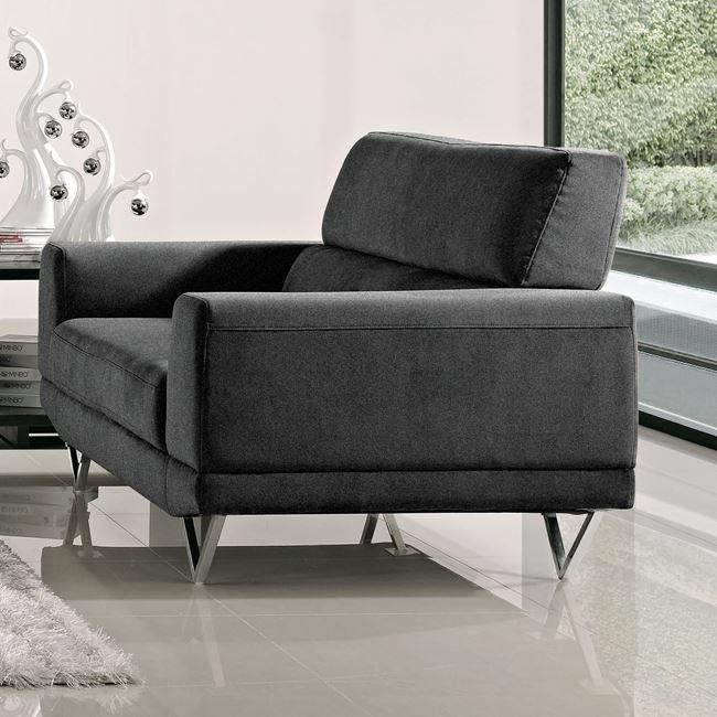 сиво кресло Торино