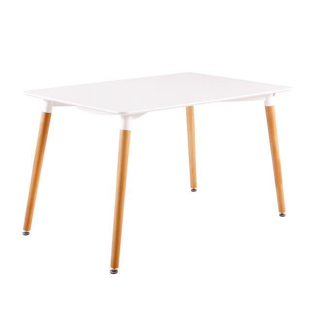 бяла маса ,дървена,трапезарна