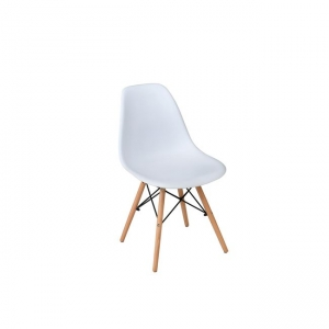 бял стол,полипропилен,дърво,метал