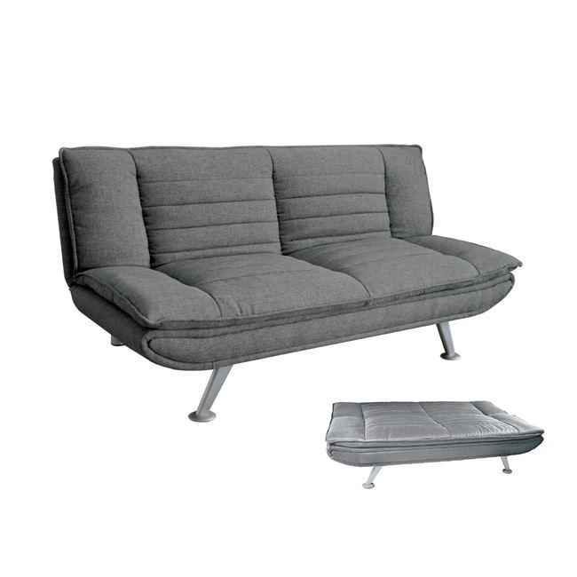 сив разтегателен диван