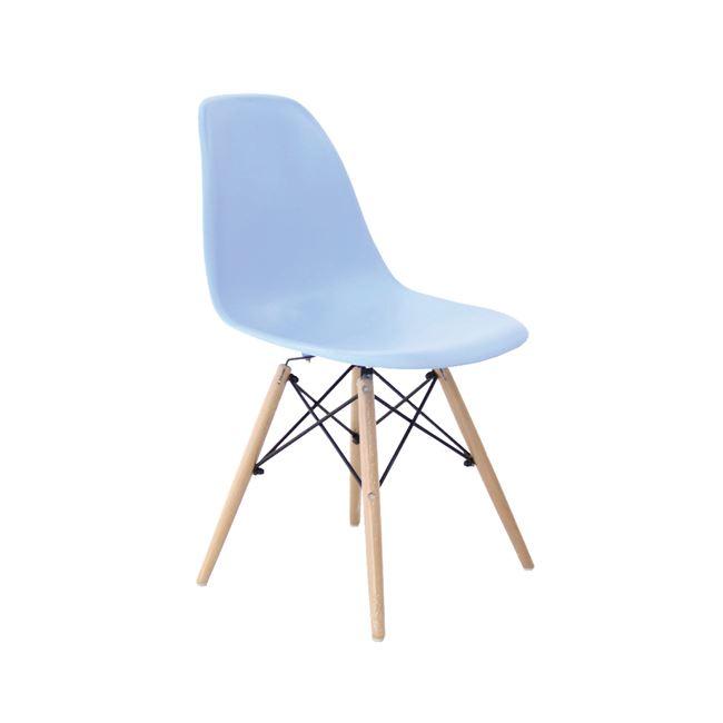 син стол,полипропилен,дърво,метал