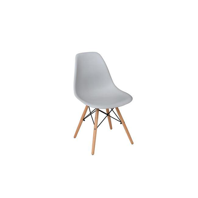 сив стол,полипропилен,дърво,метал