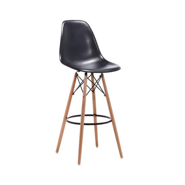 черен бар стол ,дърво ,метал Арт E 509,1