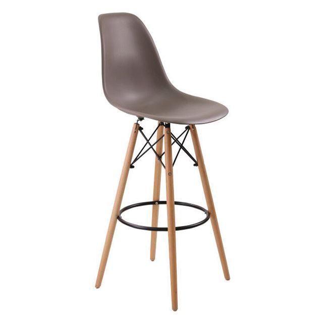кафяв бар стол ,дърво ,метал Арт E 509,1