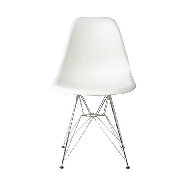 Бял стол Арт Е 124 ,метал,полипропилен