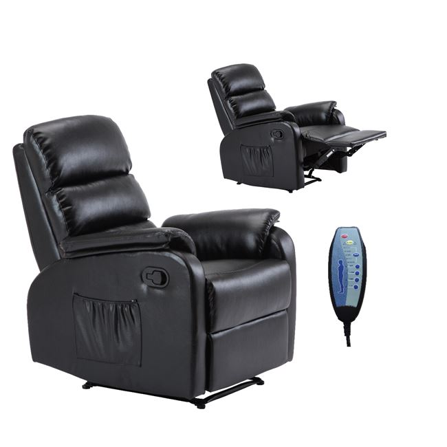 черно масажно ,кожено кресло COMFORT