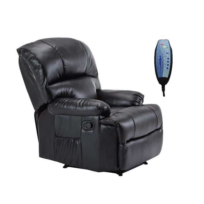 черно електрическо масажно кресло Space Massage