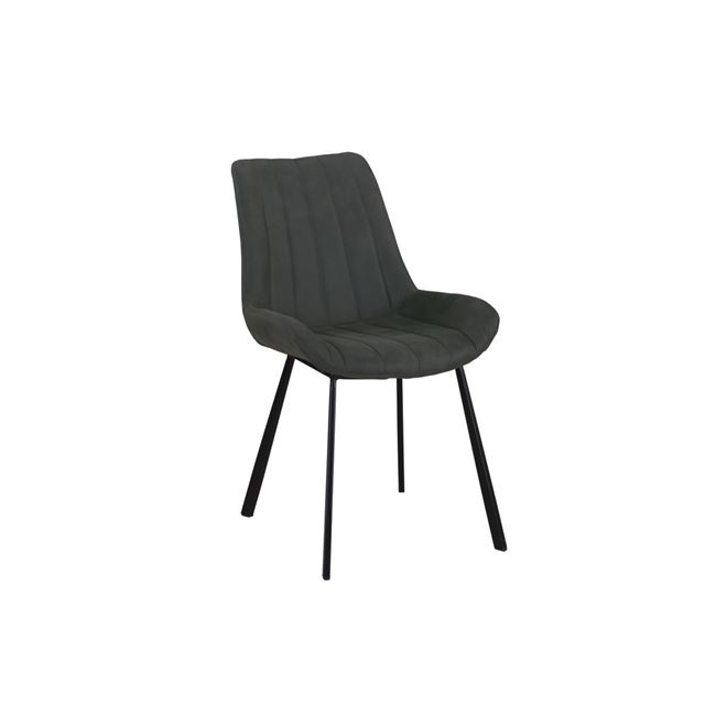 тъмнсив трапезарен метален стол Мат